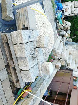 Sonstiges für den Garten, Balkon, Terrasse - Granitsteine grau