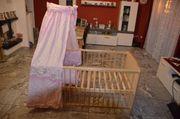 Zöllner Kinderbett mit Himmel rosa