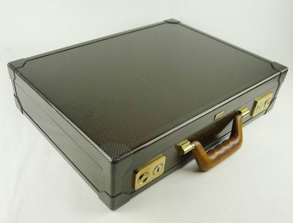 Hermes Paris Carbon Leder Briefcase