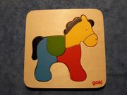 goki Holzpuzzle Pferd 4-teilig
