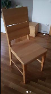 Stühle 5x aus massivem Holz