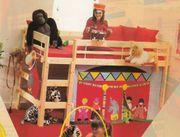 Kinder- Jugendbett Kiefer massiv honigfarben