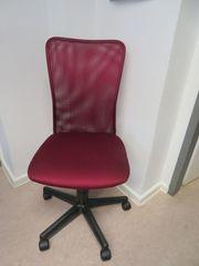 Bürostuhl Drehstuhl ohne Armlehnen rot