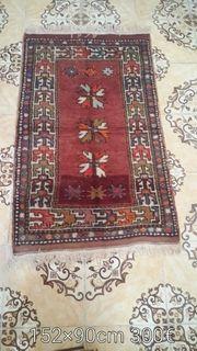 Antiker Handgewebter Teppiche 152 90cm