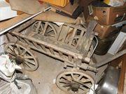 alter Handwagen Leiterwagen Bollerwagen Gartendekoration