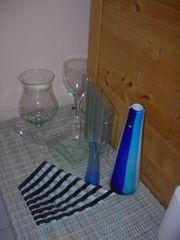 Set von Glasvasen für Pflanzen