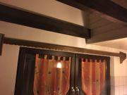 Zwei Gardinenschienen zweiläufig mit geschweifter