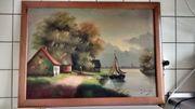 Gemälde alten Holländischen landschaft maler