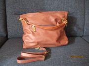 Echte italienische Lederdamenhandtasche