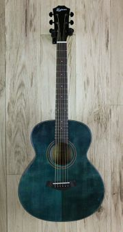 Keytone BL36 Westerngitarre OM Blue
