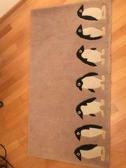 Teppich - Läufer mit Pinguinen