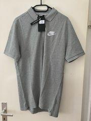 Nike Poloshirt grau Gr M