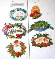 Versch Türschilder Welcome Herzl Willkommen