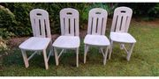 4 Esszimmer Stühle - Vollholz im