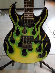 Schecter S1 Green Flame Rarität