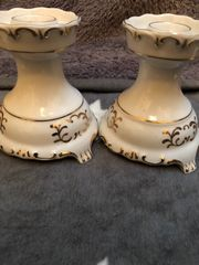 Kerzenständer Hollohaza Porzellan