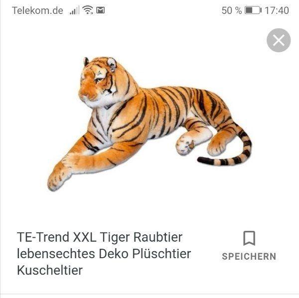 lebensgrosser Stoff Tiger - Hallbergmoos - NP war 499 Euro er ist nur leider zu groß für meine Wohnung - Hallbergmoos