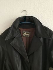 Vintage Damen-Ledermantel