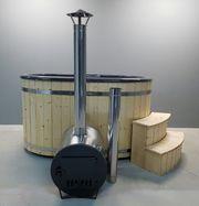 Badezuber Badefass Whirlpool 225cm GFK-Einsatz