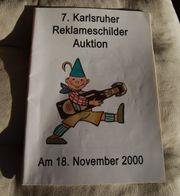 Auktionsheft der 7 Karlsruher Reklameschilder