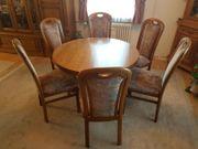 Esstisch ausziehbar mit sechs Stühlen