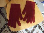 Herren Handschuhe weinrot Größe L