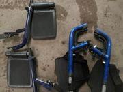 Fuss und Beinstützen für Rollstuhl
