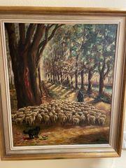 Interessantes großes Gemälde zu verkaufen