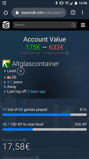 Steam Account mit 60 Spielen