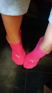 Pinke Puma Söckchen