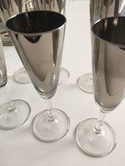 Gläser versilbert aus Glas neu