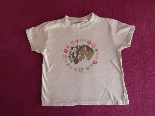 Mädchen Shirt Kurzarm Rosa mit