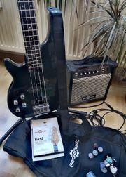 E-Bass E-Gitarre Linkshänder Verstärker Tasche