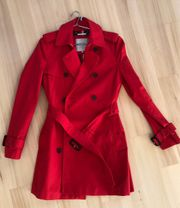 Trenchcoat Tommy Hilfiger Rot