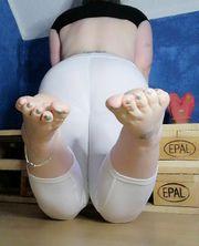 Ohne Slip getragene Leggings