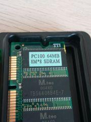 SD-Ram 64MB 168pin PC100 Gebraucht