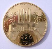 100 Schilling Gold 1926 Österreich
