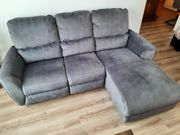 Couch Ecksofa mit Ottomane