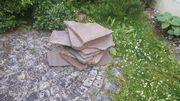 Porphyrplatten für Garten