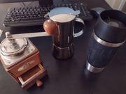 Kaffeemühle Espressokocher Thermobecher