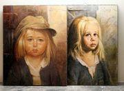 Kunstdruck Giovanni Bragolin Weinende Kinder