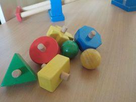 Holzspielzeug - Kugelbahn aus Holz