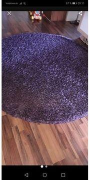 runder Hochflor Teppich
