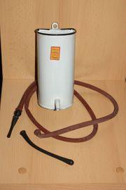 Antiker Emaille Klistier - Irrigator Einlauf