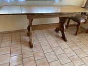 Rustikal Antik Ausziehbarer Esszimmertisch aus