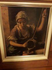 antik Gemälde Hans Happ Bild