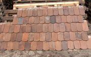alte Dachziegel Biberschwanzziegel Kohlebrand 38x16x1cm