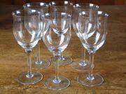 6 DDR Weingläser Gläser Glas
