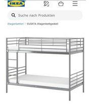 Ikea SVÄRTA Etagenbettgestell - Silber-grau