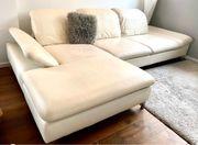 Couch Leder weiß W Schillig